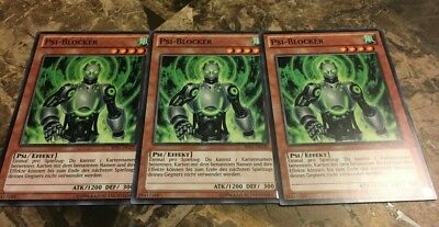 BP01-EN220 3x Psi-Blocker Common M//NM Yugioh 1st Edition
