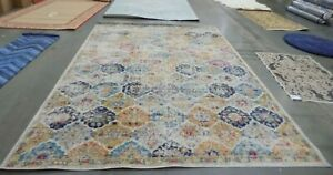 Cream Multi 9 X 12 Flaw In Rug Reduced Price