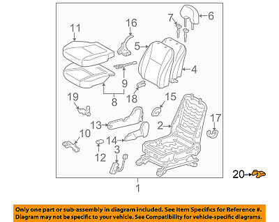 TOYOTA 72124-48020-A0 Seat Track Bracket Cover