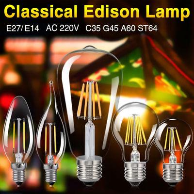 COB E14 Energie Einsparung Glühfaden 4W LED Kerze Filament Chandelier Warmweiß