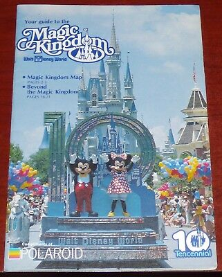 POLAROID WALT DISNEY WORLD 81 MAGIC KINGDOM EPCOT GUIDE MAP BOOKLET MICKEY  MOUSE   eBay