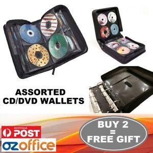 Image is loading DISC-Holder-CD-DVD-Storage-Case-Wallet-Leather-  sc 1 st  eBay & DISC Holder CD DVD Storage Case Wallet Leather Album Folder 24 40 96 ...