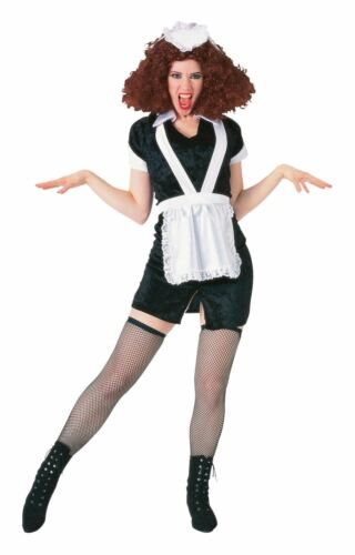 Magenta Costume Ladies Licensed ROCKY HORROR Halloween Fancy Dress Party Outfit