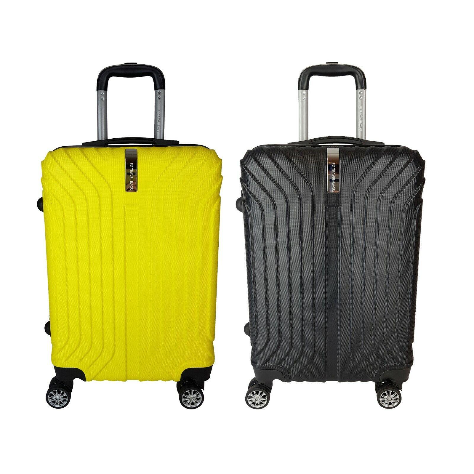 COPPIA Trolley Rigido ABS borsaaglio a uomoo Piccolo FG TRAVEL borsaS Gituttio e Nero