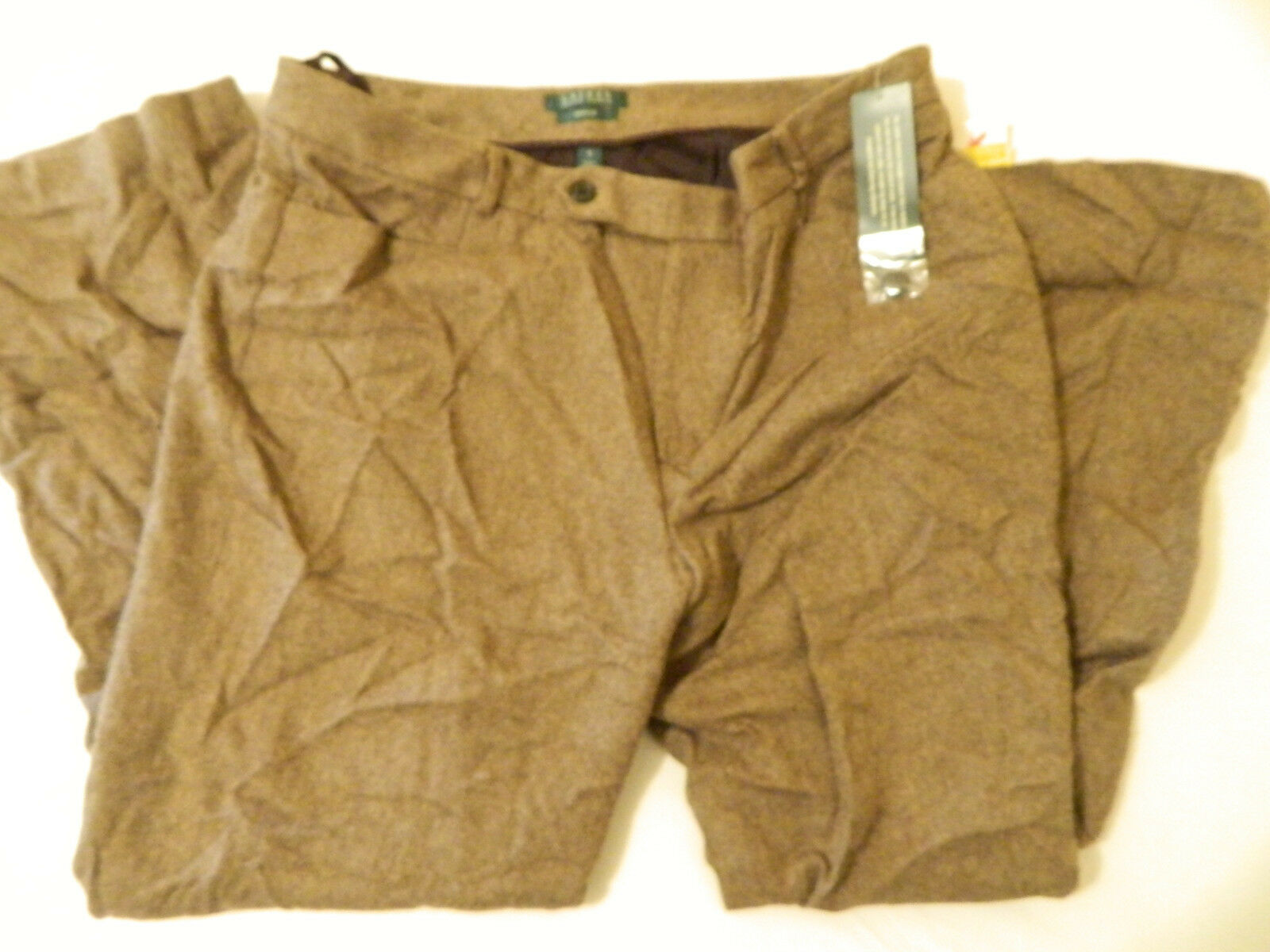 M7 NWT  Ralph Lauren Wool Cashmere Casual Brown Pants Womens 6 16