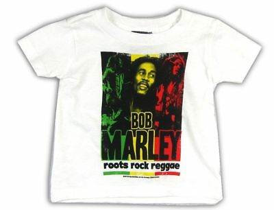 Bob Marley Reggae Music Toddler Baby Black T Shirt New Official Zion