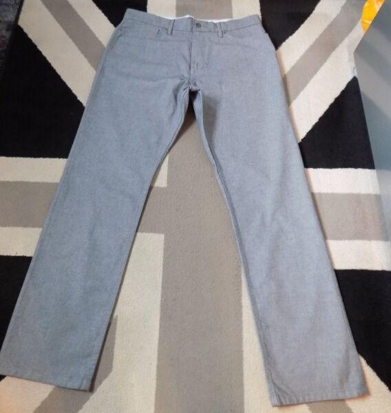 2019 Nuovo Stile M&s Blue Harbour Jeans Stretch Pantaloni Stile 34/31. Prezzo Consigliato £ 45. Ottime Condizioni G448 Altamente Lucido