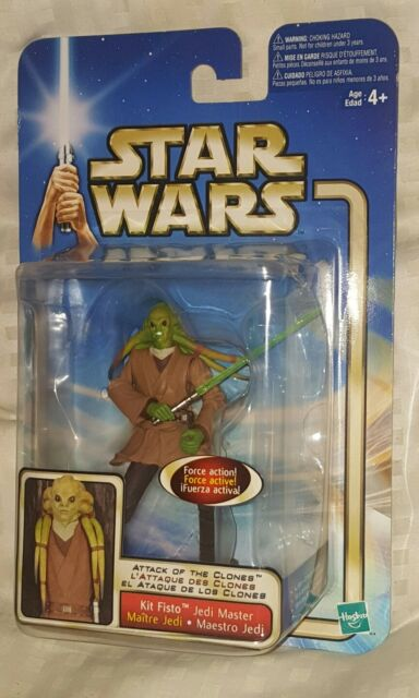 KIT FISTO JEDI MASTER Force Action Figure Star Wars Attack of The Clones *NEW*