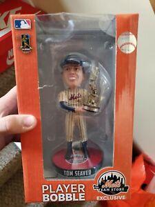New York Mets 1969 Série mondiale Tom Seaver Bobblehead 144 Trophée MVP Hof 69 Karité