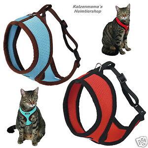 Katzengeschirr-mit-Leine-Katzengarnitur-hoher-Tragekomfort-Softgeschirr