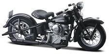 Harley Davidson 1948 FL Panhead schwarz Maßstab 1:18 von maisto