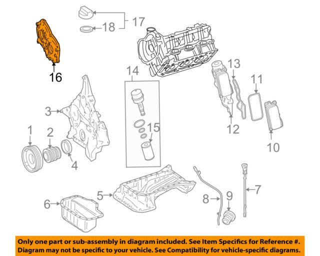 mercedes oem 10-11 e350-engine valve cover 2720150601