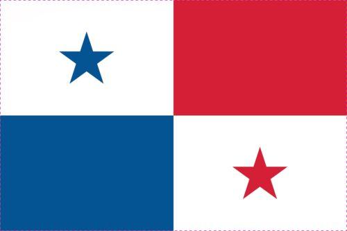 1x Panama Aufkleber 5cm Flagge breit Sticker Autoaufkleber selbstklebend