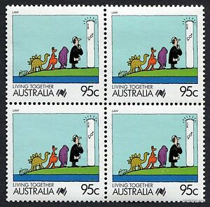 1988-Living-Together-Law-SG1135-Block-of-Four-MUH-Mint-Stamps-Australia