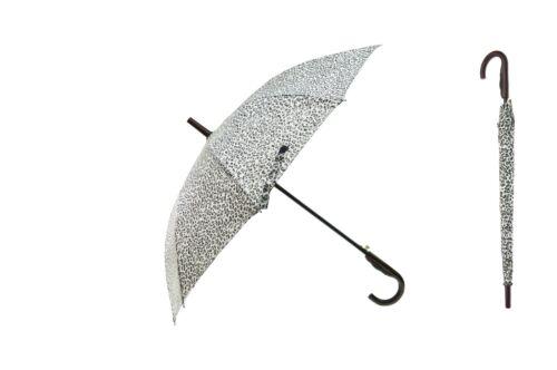 "Animal Print 44/"" Doorman Wood Hook Handle Umbrella Rain"
