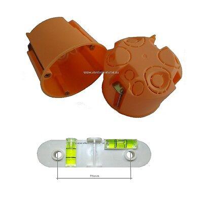 Hohlwanddosen Set orange Ø68mm inkl. 1 Stk. Bohrschablone eBay-Garantie