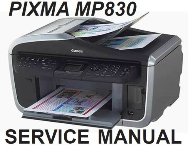 canon pixma mp830 mp 830 service repair manual parts catalog block rh ebay com Canon MP830 Ink Canon MP810