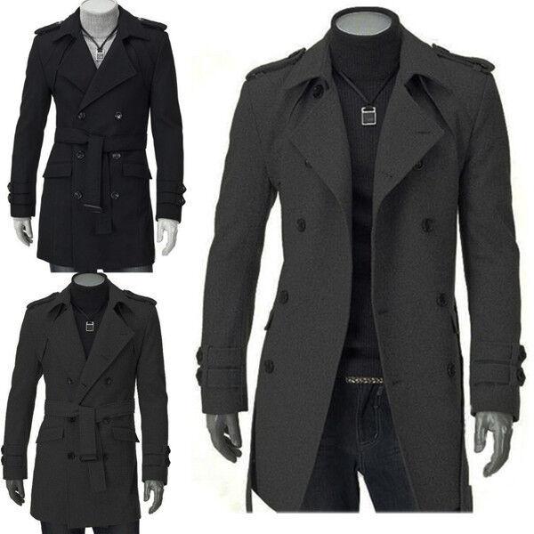 Jeansian Mens Jackets Blazer Coats Shirts Tops Outerwear Black/Gray 5 Sizes 8948
