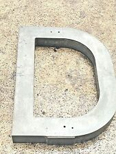 Commercial Building Indoor Outdoor Sign Letter D Cast Aluminum 30 Inches