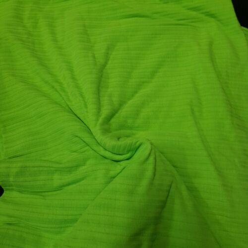 4meters neon green rib stretch fabric crafts