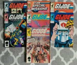 GI-Joe-Comics-Lot-1985-to-1987-Yearbook-Special-Mission-and-Real-American-Hero
