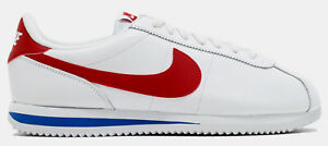 Nike-Men-039-s-Cortez-Basic-Leather-OG-Forrest-Gump-White-Royal-Red-882254-164