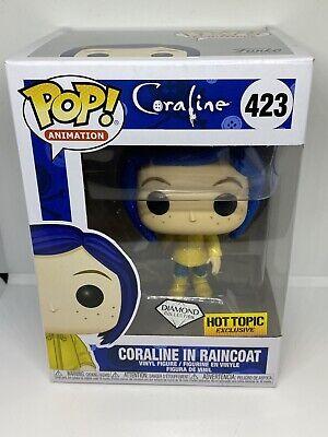 Funko Pop Animation Series Diamond Coraline In Raincoat Hot Topic Exclusive Ebay