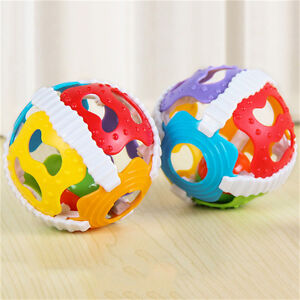 Baby Infant Kids Development Toys 6-Color Gripping Ball Rattle Educational Gift