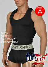 1/6 Men Tank Top Underwear Set A For Phicen M30 M31 M32 Male Figure Body ❶USA❶