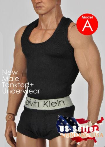 1//6 Men Tank Top Underwear Set A For Phicen M30 M31 M32 Male Figure Body ❶USA❶