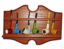 AWESOME Vintage Refinished Smoking Pipe Rack for 6 Pipes