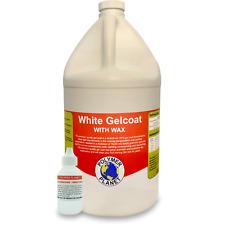 Wax White Gelcoat Top Coat Base (Fiberglass Marine Boat Gel Repair) Gallon Kit