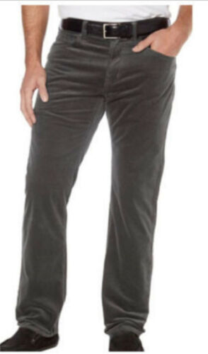 Kirkland Signature Men/'s 5 Pocket Corduroy Pants Charcoal