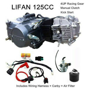 Details about 125cc manual LIFAN Engine motor full Wiring harness Carby air  filter kit ATV PIT