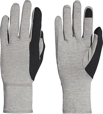 Intelligent Adidas Climalite Running Gloves Grey Sweat Wicking Outdoor Training Mens Womens