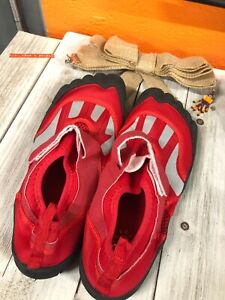 Size 11 Red Water Proof Swim Shoes