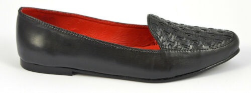 Womens Ladies Ballerina Pumps Flats Loafers Red Black Shoes Size 3 4 5 6 7 8 9