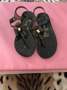 At Asda Black Glitter Sandals Size 3