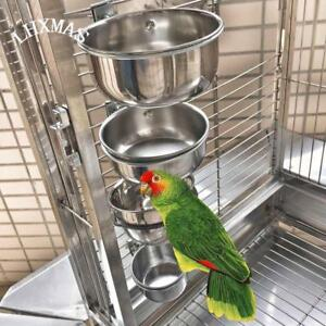 Bird-Feeders-Stainless-Steel-Cups-Parrot-Food-Holder-Container-Bowl-Cockatiel