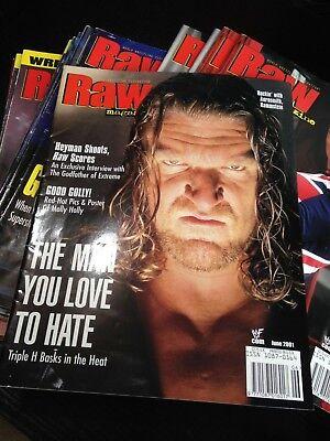 WWF WWE RAW Magazine JUNE 2001 HHH Diva Poster