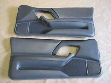 97-99 Camaro Z28 RS SS Door Panels Med Gray Leather LH RH Pair 1007-3