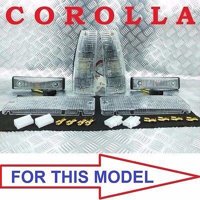 CLEAR PARKING SIDE LIGHT TURN SIGNAL CORNER PARKING FIT COROLLA KE70 KE72 TE71