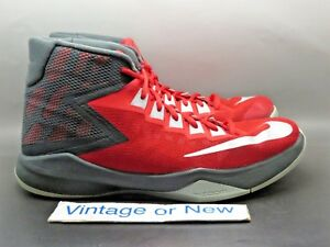 247a18ab7f9c Men s Nike Zoom Devosion Red Anthracite Silver Basketball Shoes ...
