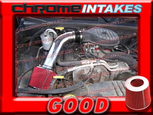 BLACK RED 97-03 DODGE DAKOTA//DURANGO 3.9 3.9L V6 5.2 5.2L 5.9 5.9L V8 AIR INTAKE