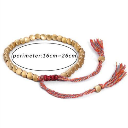 Tibetische buddhistische Geflochtene Baumwolle Kupfer Perlen Glück Seil Armband