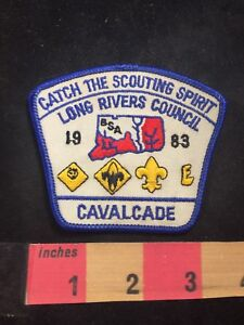 1983-Long-Rivers-Council-CAVALCADE-BSA-Boy-Scouts-Patch-80XE
