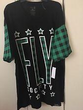 Fly Society Men 5XL short  Sleeve Graphic Tee nwt $49