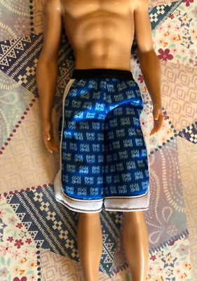 BOTTOM KEN BMR1959 MADE TO MOVE BLUE WHITE LOGO SHORTS PANTS CLOTHING ACCESSORY