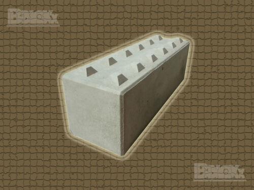 180x60x60 cm Standard 600er BBloxxBeton-Legostein 1.500 kg oben Noppen