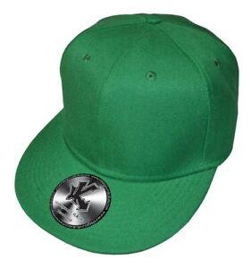 Plain Snapback Flat Peak Baseball Cap 3 Colours